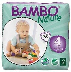 Ekologiškos sauskelnės BAMBO Nature Maxi, 4, 7-18 kg, 30 vnt.