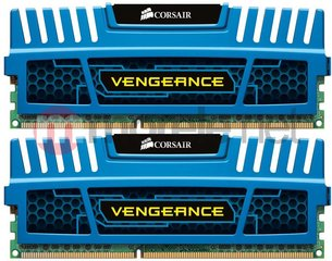 Corsair Vengeance 2x4GB, DIMM,1600MHz, DDR3,CL9,XMP,Non-ECC,with Heatsink (Blue) (CMZ8GX3M2A1600C9B)