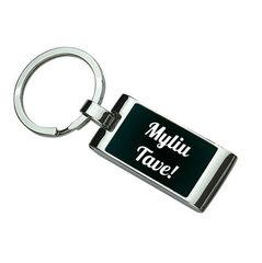 """Graviruotas raktų pakabukas """"Myliu Tave"""""""