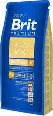 AKCIJA! Brit Premium M Adult 15 kg + 3 kg DOVANŲ! kaina ir informacija | Sausas maistas šunims | pigu.lt