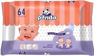 Drėgnos servetėlės Panda, 64 vnt.