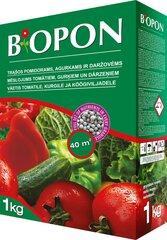BIOPON trąšų granulės pomidorams, agurkams ir daržovėms, 1 kg kaina ir informacija | Birios trąšos | pigu.lt