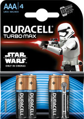 Elementai Duracell Turbo StarWars AAA LR03 4vnt.