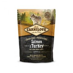 Carni Love Salmon & Turkey Adult Large Breed 1,5kg kaina ir informacija | Carni Love Salmon & Turkey Adult Large Breed 1,5kg | pigu.lt
