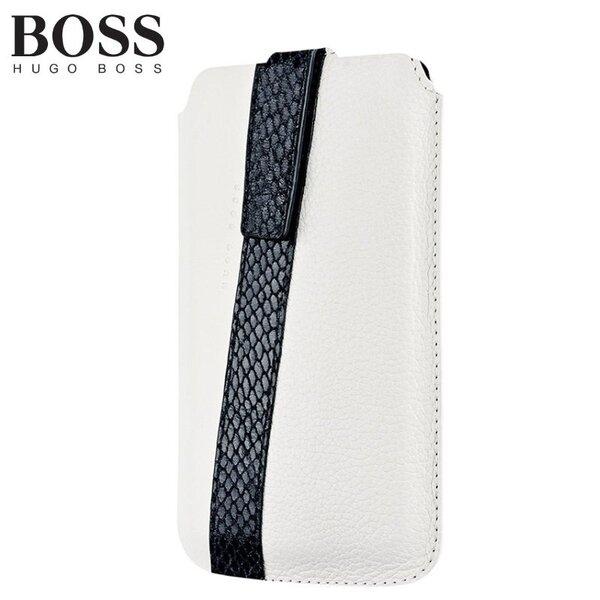 Universalus apsauginis dėklas Hugo Boss Mondaine M (7.3x12.8cm), Baltas