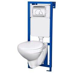 WC комплект Kerra Summer: рама + унитаз + кнопка + soft-close крышка