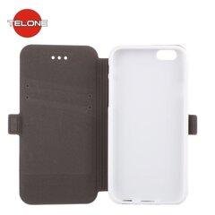 Atverčiamas dėklas Telone Super Slim Shine Book skirtas Huawei P9 Lite, Baltas kaina ir informacija | Atverčiamas dėklas Telone Super Slim Shine Book skirtas Huawei P9 Lite, Baltas | pigu.lt