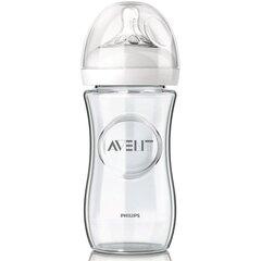 "Stiklinis buteliukas Philips Avent ""Natural"", 1+ mėn, 240 ml(SCF673/17)"