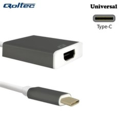 Qoltec Adapteris USB 3.1 tipo C male / HDMI A