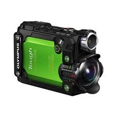 "Olympus TG-Tracker Green - 7.2 MP backlit CMOS, 204° ultra-wide angle lens, 1.5"" 115,200K dots flip-out LCD, 30m waterproof, 2.1m shockproof, 100kg cushproof, -10°C freezeproof, Field Sensor System (5 Sensors), 4K and full 60p HD Movie, Tru"