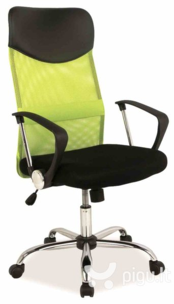 Biuro kėdė Q-025, juoda/žalia