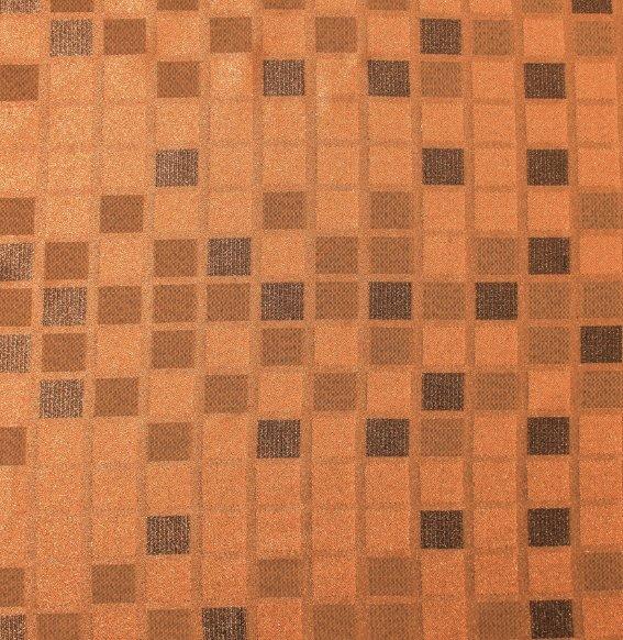 Užuolaidų medžiaga Oranžiniai kvadratai