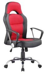 Biuro kėdė Q-033, juoda/raudona kaina ir informacija | Biuro kėdės | pigu.lt