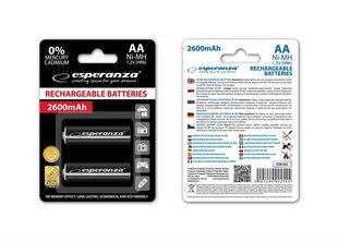Esperanza EZA105 Įkraunama baterija Ni-MH AA 2600MAH x2