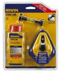IRWIN žymeklio rinkinys + mėlyna kreida, 30 m. kaina ir informacija | IRWIN žymeklio rinkinys + mėlyna kreida, 30 m. | pigu.lt