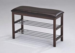 Batų lentyna su suoleliu Benchy, juoda kaina ir informacija | Prieškambario baldai | pigu.lt