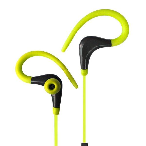 ART Bluetooth ausinės su mikrofonu AP-BX61 lime sport (EARHOOK)