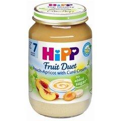 Persikų ir abrikosų su varškės kremu tyrelė HIPP BIO, nuo 7 mėn., 160g