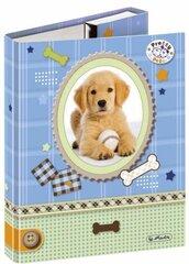 Dėklas sąsiuviniams Herlitz Pretty Pets Hund, kietu viršeliu, A5, 10314243 kaina ir informacija | Kanceliarinės prekės | pigu.lt