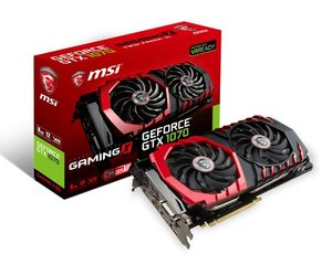 MSI GeForce GTX1070 8GB GDDR5 PCIE GTX 1070 GAMING 8G