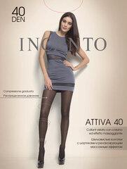 Pėdkelnės moterims Incanto Attiva 40 DEN, juodos spalvos