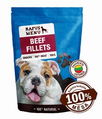 100% natūralios vytintos jautienos file šunims Rafus Menu, 100 g