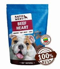 100% natūralios vytintos galvijų širdys šunims Rafus Menu, 100 g