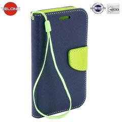 Apsauginis dėklas Telone Fancy Diary Bookstand skirtas Huawei Honor 5C/7 Lite, Mėlyna/Šviesiai žalia kaina ir informacija | Telefono dėklai | pigu.lt
