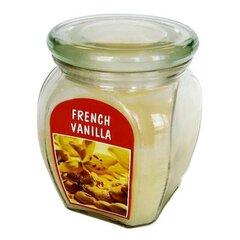 Kvepianti žvakė stikliniame indelyje French Vanilla, 12 x 9,2 cm