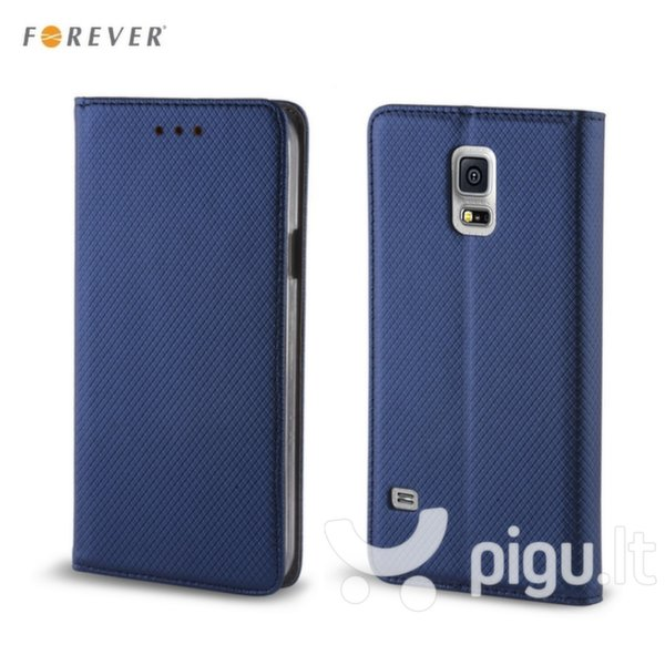 Apsauginis dėklas Forever Smart Magnetic Fix Book skirtas Huawei Ascend Y5 II (2016), Tamsiai mėlynas