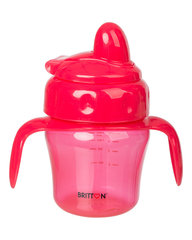 Nelašantis puodelis su minkštu snapeliu BRITTON, 150 ml, raudonas