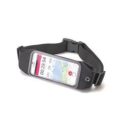 Sportinis dėklas ant juosmens su permatomu langeliu iki 4.7 colių Celly juodas kaina ir informacija | Priedai telefonams | pigu.lt