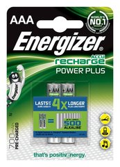 Батарейки ENERGIZER Power Plus, AAA, HR03, 1,2 V, 700mAh, 2 gab.