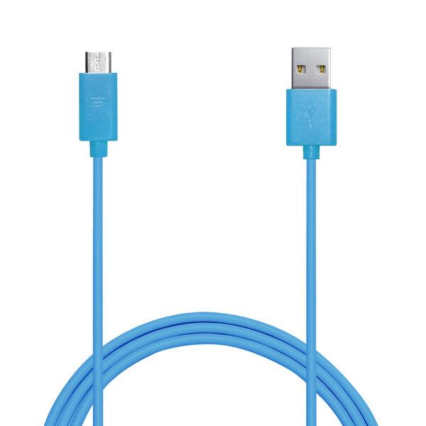 PURO USB-MicroUSB 1A, Mėlynas