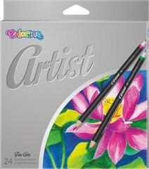 Spalvoti pieštukai Colorino Artist, 24 vnt. kaina ir informacija | Kanceliarinės prekės | pigu.lt