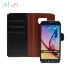 Blun Twin 2in1 Eco Leather Book Case and Magnetic Back Cover Huawei P9 Lite Black