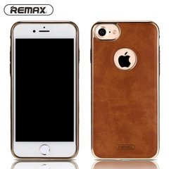 Apsauginis dėklas Remax Beck Lux Leather skirtas Apple iPhone 7 Plus, Rudas