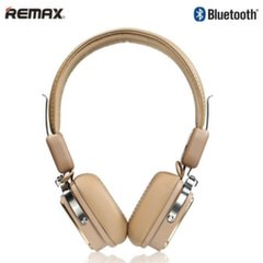 Remax RB-200HB Luxury Hi-End Audio Bluetooth Stereo 40mm Headphones 3.5mm Aux / Phone call Brown