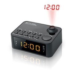 M@ Clock radio M-178P Dual alarm clock with time projection - 2 band PLL radio FM/MW, Black, 0.9 inch amber LED, with dimmer