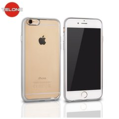 Telone Super Thin Transparent Silicone Back Case Apple iPhone 7 4.7inch with Silver color frame