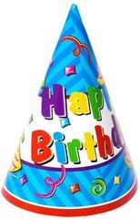 Kepuraitės Happy Birthday, 6 vnt. kaina ir informacija | Dekoracijos, indai šventėms | pigu.lt