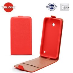 Telone Shine Pocket Slim Flip Case Sony Xperia X Mini / Compact vertical book case Red kaina ir informacija | Telefono dėklai | pigu.lt