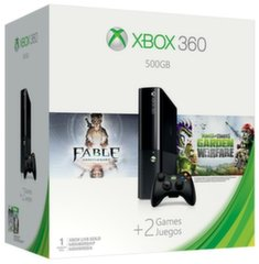 Microsoft XBOX SLIM 360 500GB + Plants vs Zombies Garden Warfare + Fable Anniversary + 1M Live