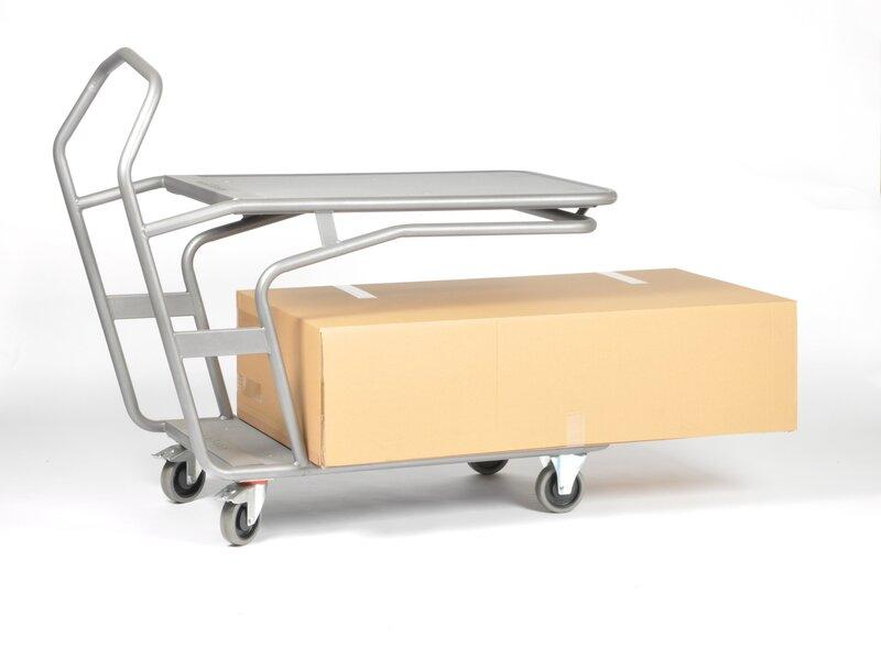 Platforminis dviejų aukštų vežimėlis Matador M-EDCAR E-WAGEN 2PL
