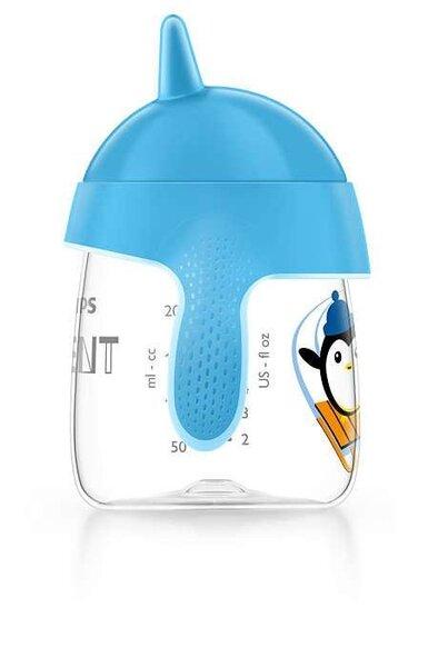 Philips Avent neišsiliejantis puodelis su rankenėle Premium, 260 ml, SCF753/05, mėlynas pigiau