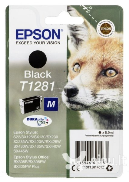 Epson - Tusz T1281 BLACK 5.9ml do SX125/130/425W/S22/BX305