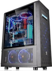 Thermaltake - Core X71 Full Tower USB3.0 Tempered Glass - Black