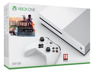 Microsoft Xbox One S 500 GB + Battlefield 1