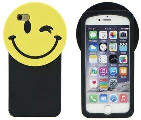 """Apsauginis dėklas Forcell 3D Back Case (Šypsenėlė) skirtas Apple iPhone 7 4.7"""", Juodas/Geltonas"""