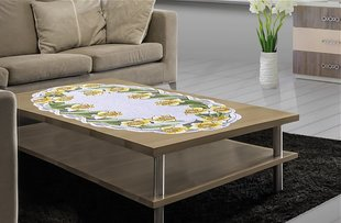 Servetėlė Narcizai, 60x120 cm kaina ir informacija | Staltiesės, virtuviniai rankšluosčiai | pigu.lt